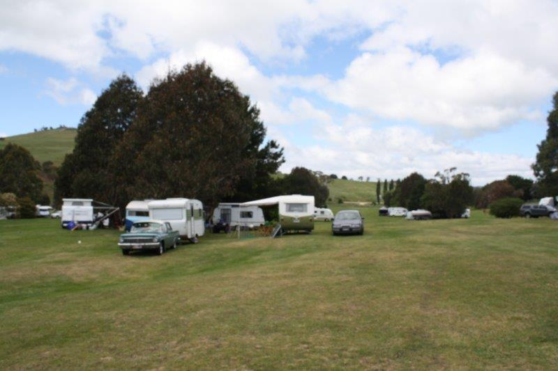 campsites on the course